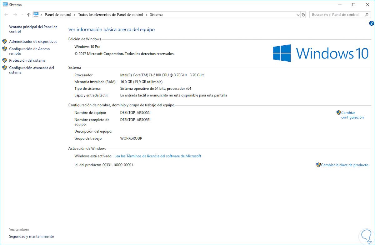 como saber que windows tengo - propiedades del sistema