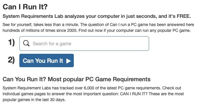 como saber si mi pc corre un juego - can i run it?