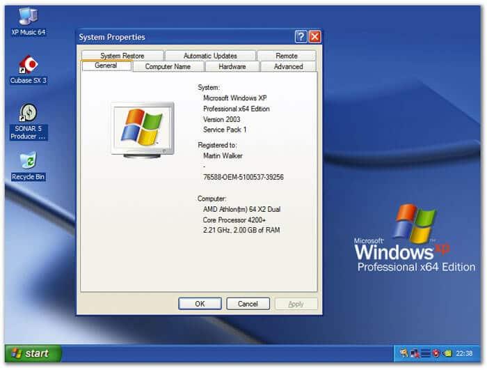 como saber de cuantos bits es mi computadora windows xp