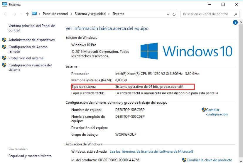 como saber de cuantos bits es mi pc windows 10 windows 8