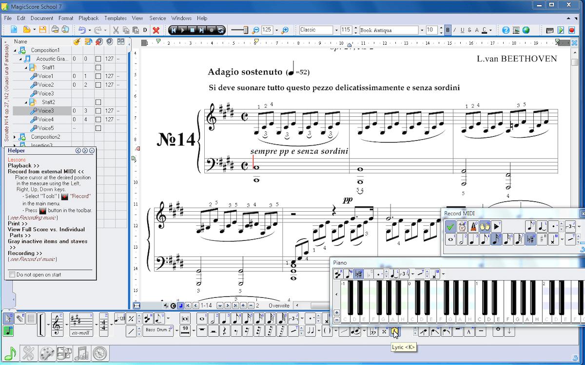 ejemplos de software de aplicacion - compositor musica