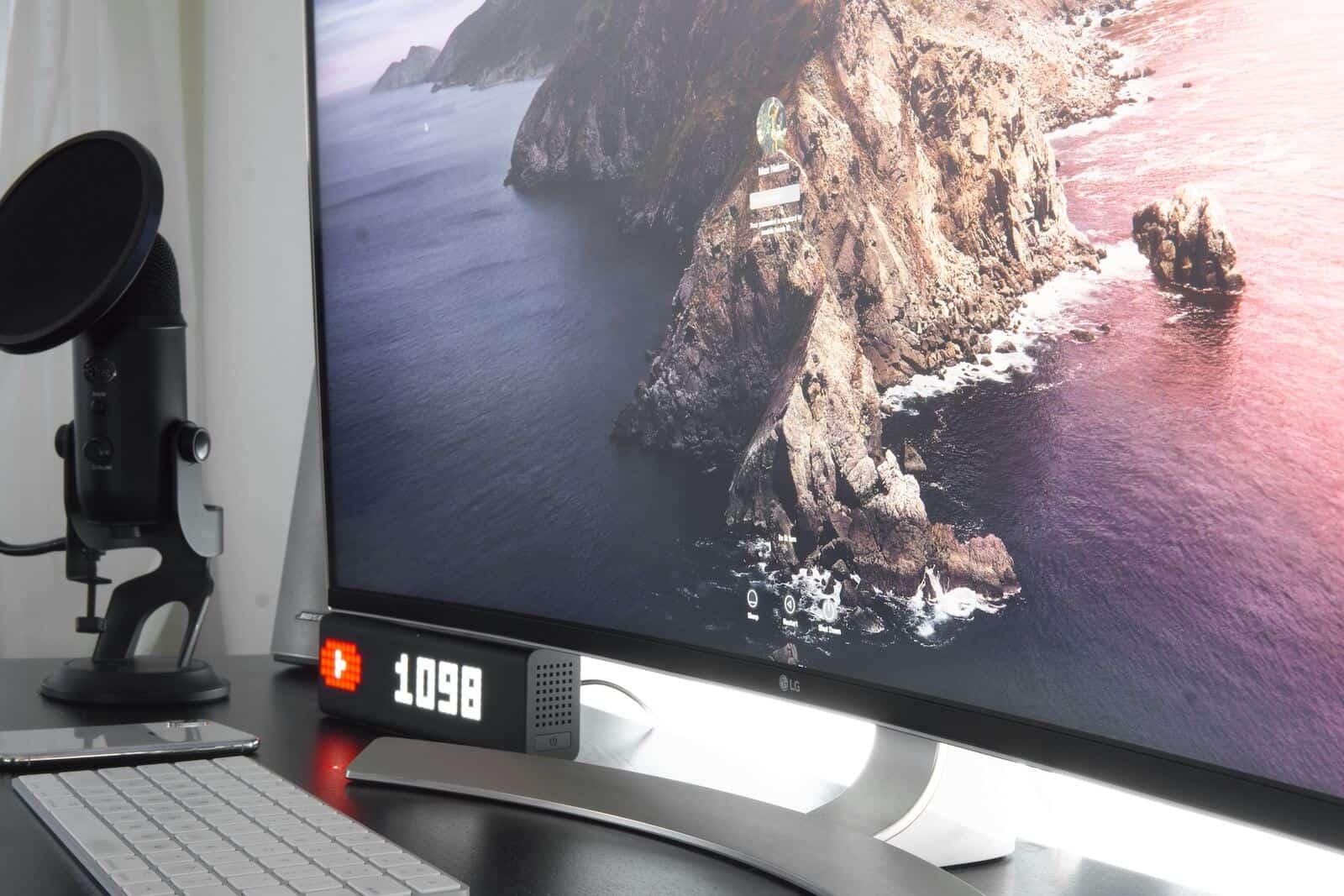 tipos de monitores led curvos