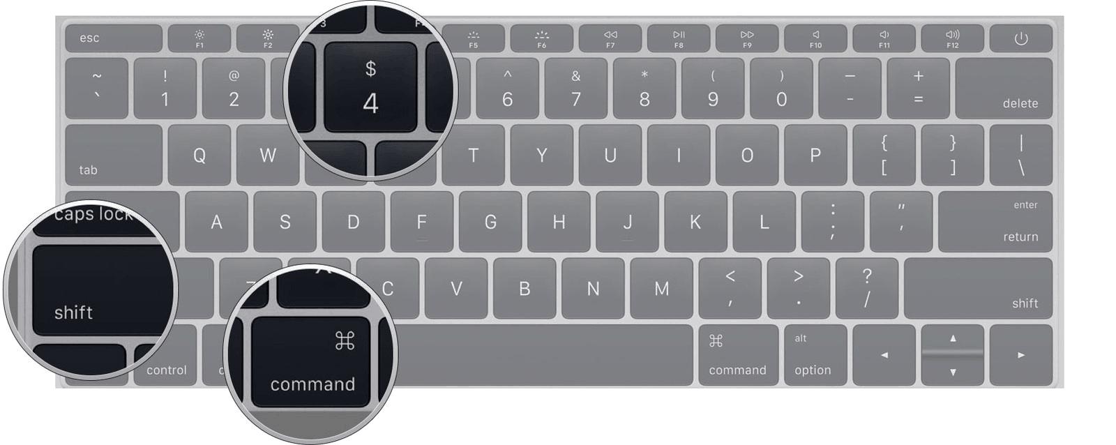 como hacer captura de pantalla en laptop macbook mac os