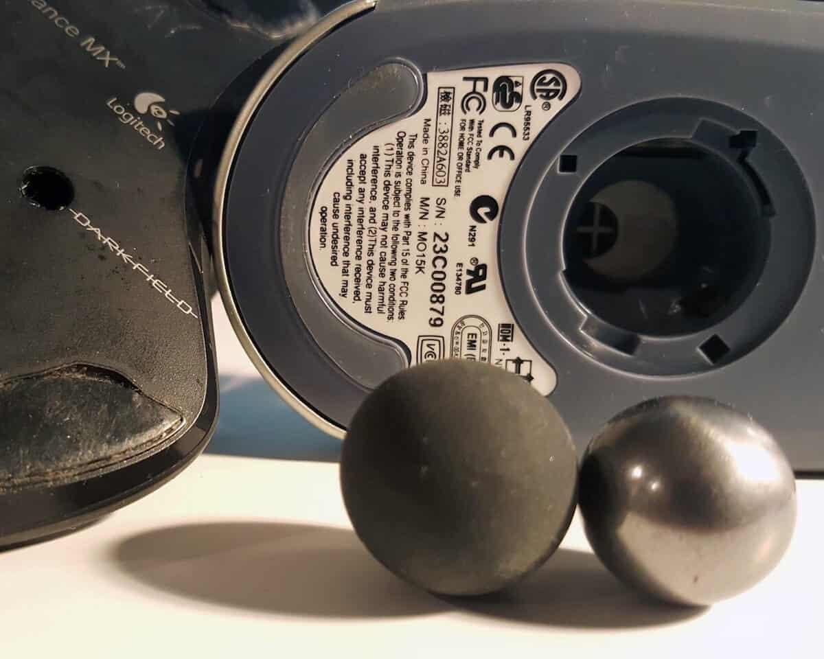 tipos de mouse mecanico bola