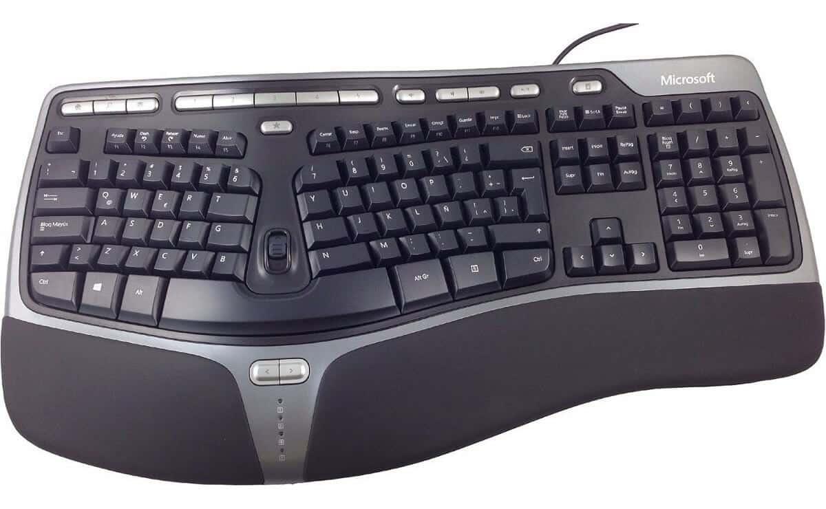 tipos de teclado ergonomico