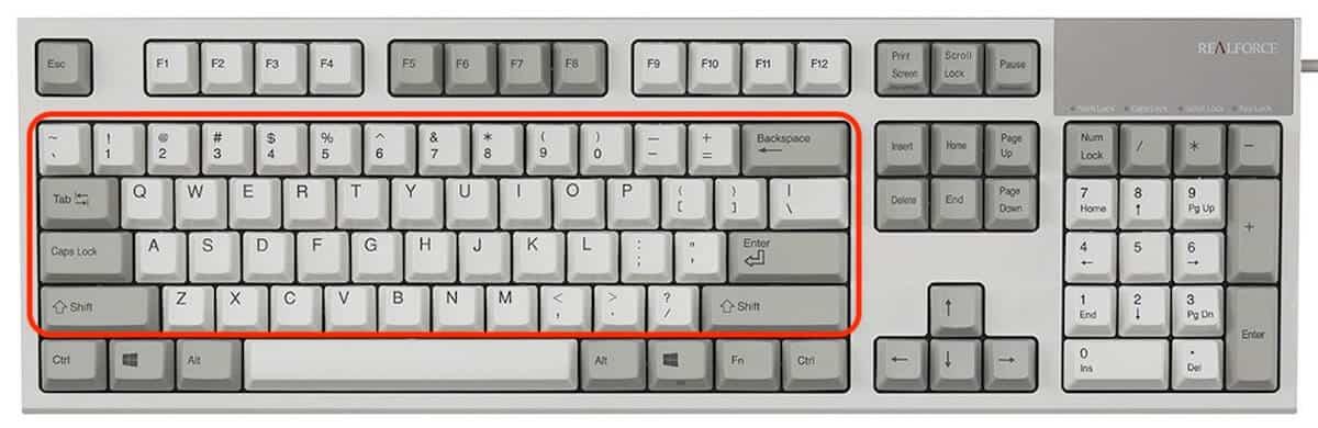 partes del teclado - alfanumerico