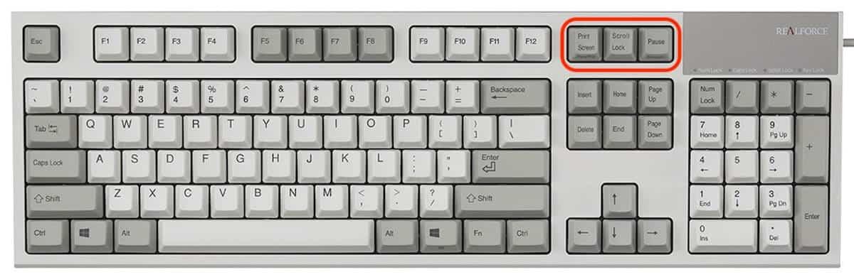 partes del teclado - especiales