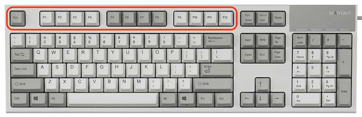partes del teclado - teclas de funcion