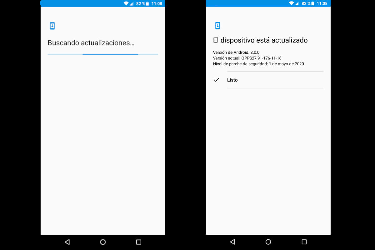 Actualizar Android - búsqueda de actualización