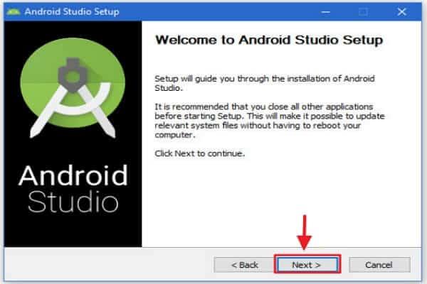 Cómo instalar Android Studio - Instalar Android Studio para Windows - paso 2