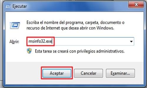 Cómo saber cuántos núcleos tiene mi PC - Utilizando el comando MSInfo32.exe en Windows - PASO 2