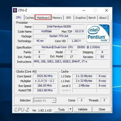 Cómo saber qué tarjeta madre tengo - CPU-Z