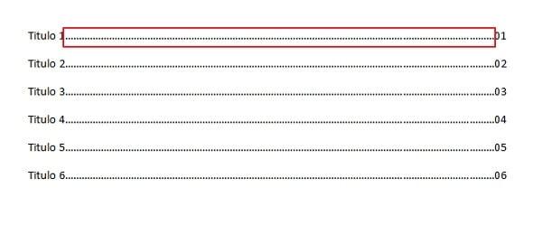 Cómo hacer un índice en Word -  Paso número 4