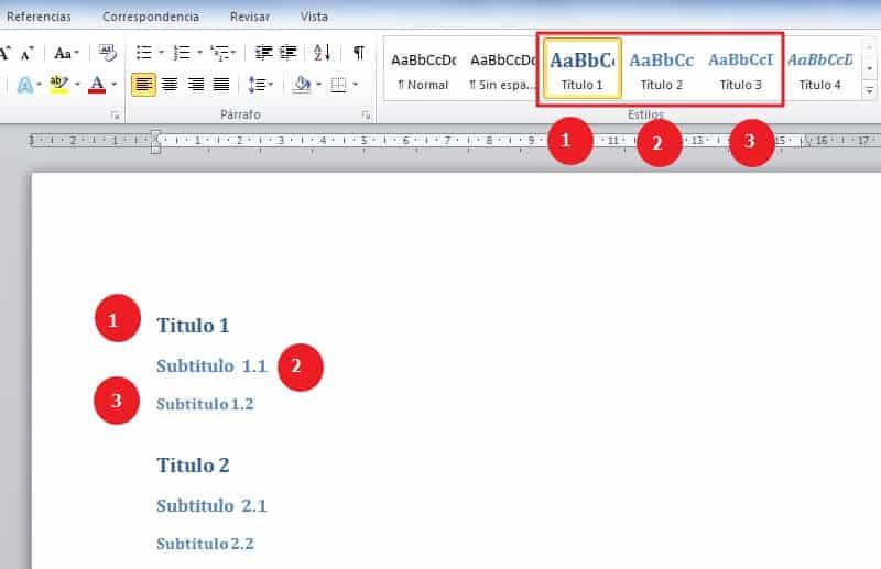 Cómo hacer un índice en Word -  Pasos para hacer un índice en Word de manera automática- paso número 1- paso 1