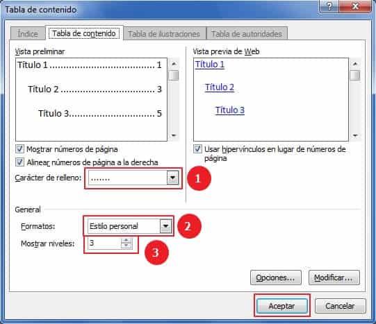 Cómo hacer un índice en Word -  Pasos para hacer un índice en Word de manera automática- paso número 2