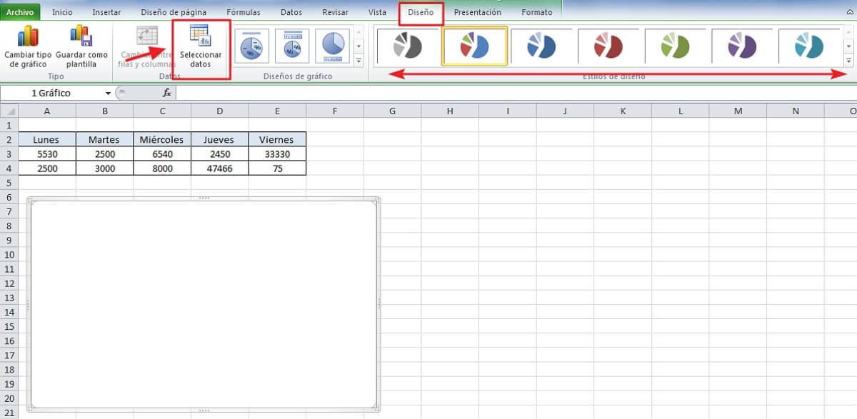 Cómo hacer gráficas en Excel - Pasos de cómo hacer gráficas en Excel - paso 3