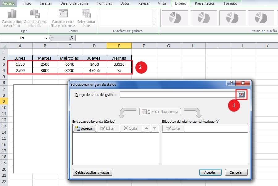 Cómo hacer gráficas en Excel - Pasos de cómo hacer gráficas en Excel - paso 4