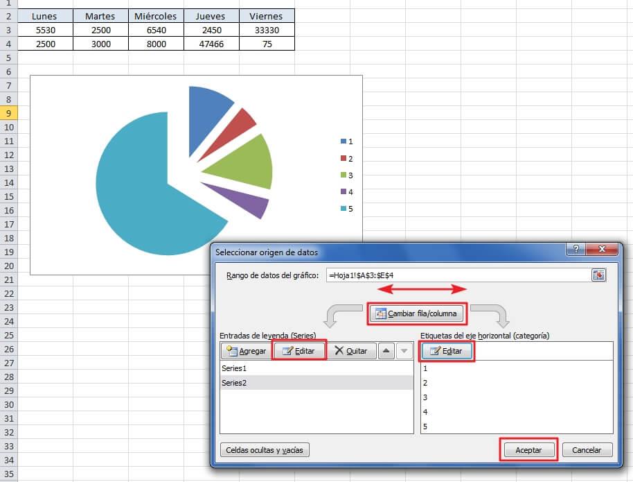 Cómo hacer gráficas en Excel - Pasos de cómo hacer gráficas en Excel - paso 5